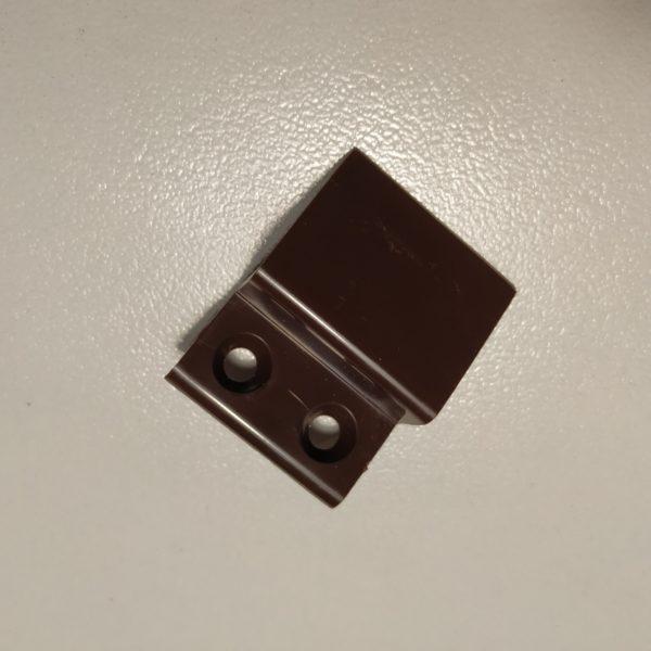 Z крепление верхнее для москитной сетки коричневое, пластик.